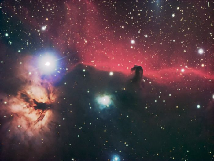 Horsehead and Flame Nebula by Thomas Kerns of Beluga Lake Observaory