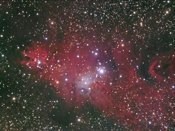 The Christmas Tree Cluster by Thomas Kerns of Beluga Lake Observaory