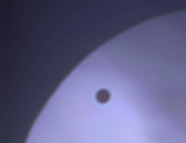 Close up of Venus Transit by Thomas Kerns of Beluga Lake Observaory